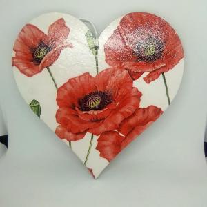 poppy mdf heart