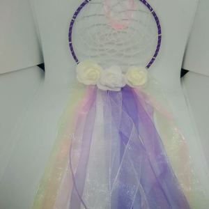 purple organza dreamcatcher