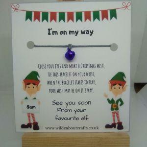personalised elf wish bracelet