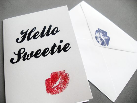 Hello Sweetie Card by Wilde Designs