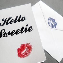 Hello Sweetie Card by Wilde Designs