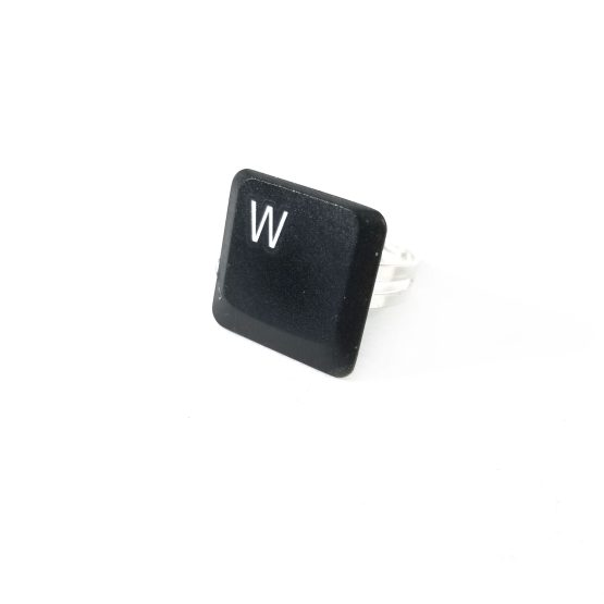 Letter W Adjustable Upcycled Keyboard Ring by Wilde Designs