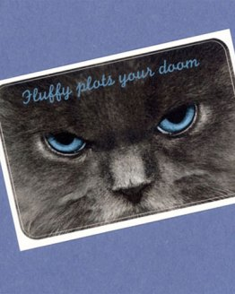 Fluffy Plots Your Doom Sticker by Wilde Designs