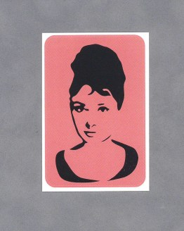 Audrey Hepburn Sticker by Wilde Designs