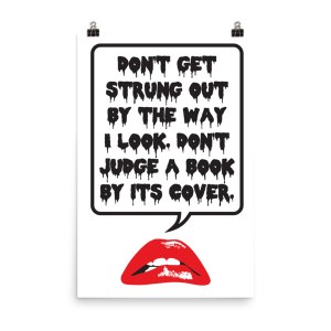 don't judge a book poster by wilde designs