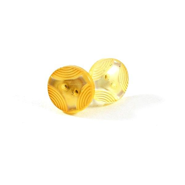 Art Deco Yellow Button Earrings by Wilde Designs