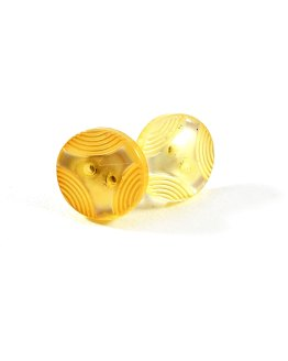 Art Deco Yellow Button Earrings by Wilde Designs