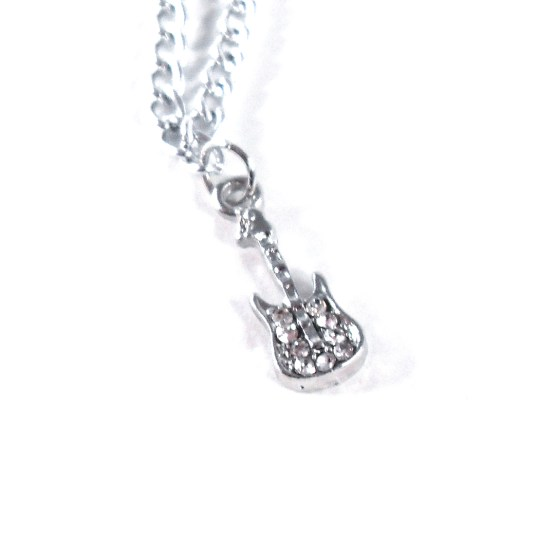Delicate Electric Guitar Necklace by Wilde Designs