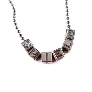 SHIELD Geeky Word Necklace by Wilde Designs