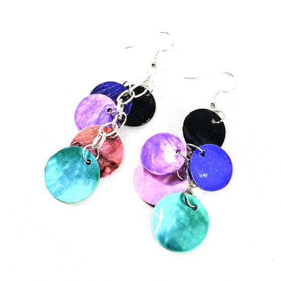 Galaxy Dragon Scale Earrings by Wilde Designs