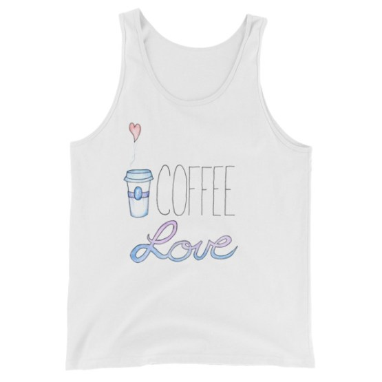 Coffee Love tank top by Wilde Designs