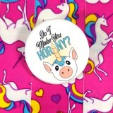 Horny Unicorn Button by Wilde Designs