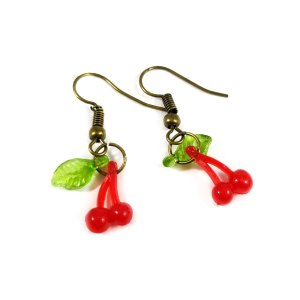 Cherry Bomb Rockabilly Earrings by Wilde Designs