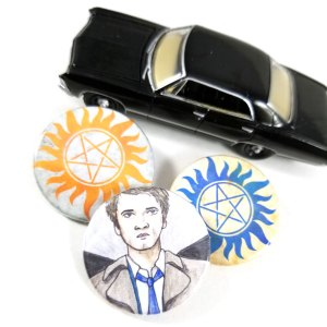 Supernatural Button Set by Wilde Designs
