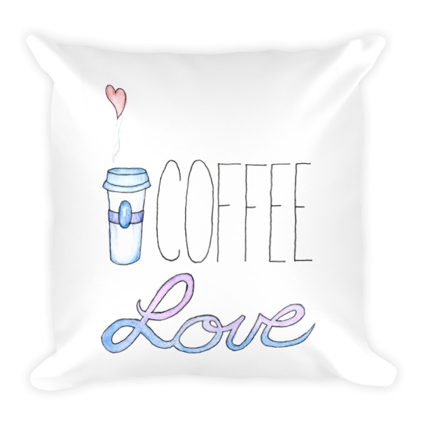 Coffee Love Pillow by Wilde Designs