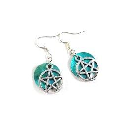 Pretty Pentagram Earrings by Wilde Designs