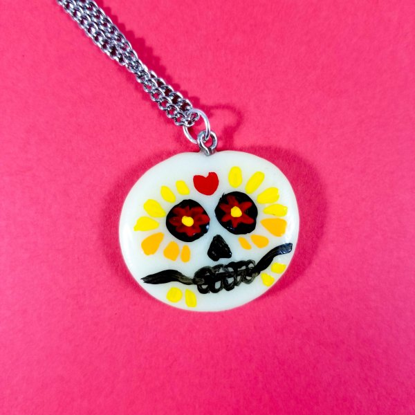 Glow in the Dark Day of the Dead Necklaces by Wilde Designs