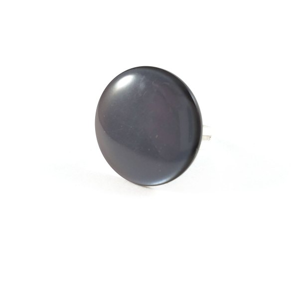 Gray Skies Button Ring by Wilde Designs