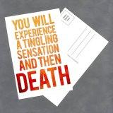 "Tingling Sensation 4""x6"" Postcard by Wilde Designs"