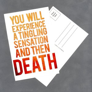 "Tingling Sensation 4""x6"" Postcard by Wilde Designs"