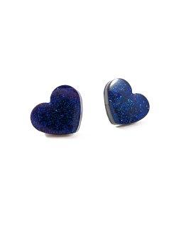 Show Some Love Blue Heart Earrings by Wilde Designs