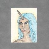 Unicorn Girl Art Card by Wilde Designs