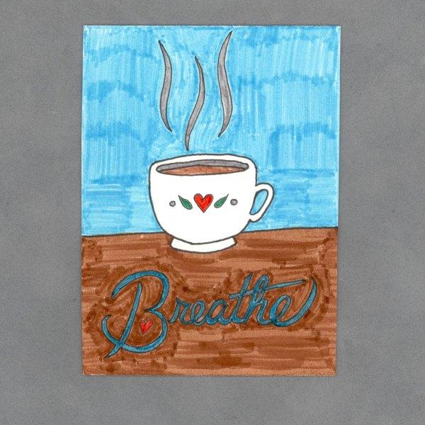 Breathe Art Card by Wilde Designs
