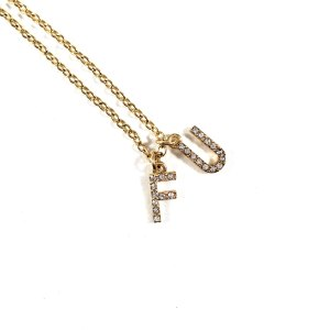 FU Humorous Necklace in Gold Bling by Wilde Designs
