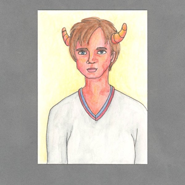Preppie Demon Boy Art Card by Wilde Designs