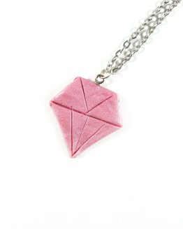 Pretty in Pink Diamond Necklace by Wilde Designs