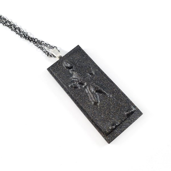 Carbon Freeze Necklace by Wilde Designs