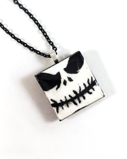 Jack Skellington Tile Necklace by Wilde Designs