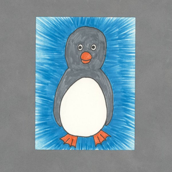 Baby Penguin Art Card by Wilde Designs