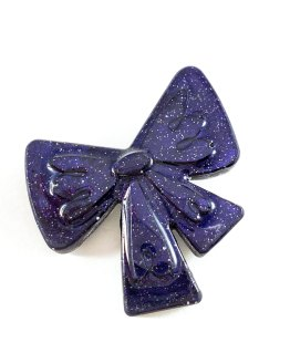 Glittering Galaxy Fancy Bow Pin by Wilde Designs