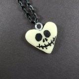 Jack Skellington Glow in the Dark Heart Necklace by Wilde Designs
