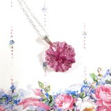 Glittery Magenta Button Necklaces by Wilde Designs