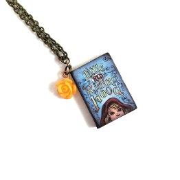 Classic Literature Book Necklaces by Wilde Designs