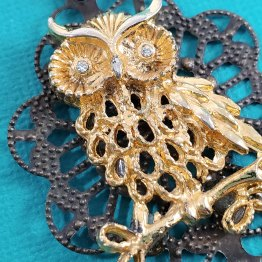 The Owl Holds the Key Steampunk Necklace by Wilde Designs