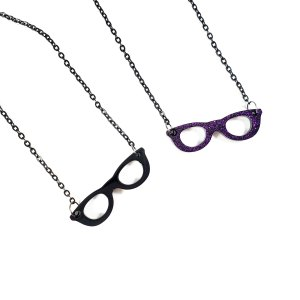 Girls Who Wear Glasses Necklaces by Wilde Designs