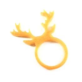 Pearly Gold Deer Antlers Resin Ring by Wilde Designs