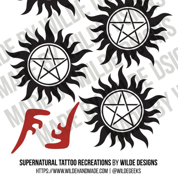 Supernatural Tattoos by Wilde Designs
