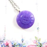 Glittery Purple Button Necklace by Wilde Designs