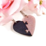 Gray & Pink Heart Necklace Set by Wilde Designs