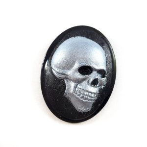 Death's Head Cameo Brooch by Wilde Designs
