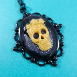Creeping Darkness Cameo Necklace by Wilde Designs