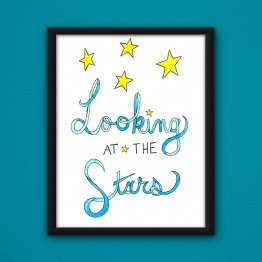Looking at the Stars Poster by Wilde Designs