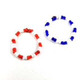 Patriotic Bead Ring Set by Wilde Designs