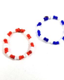 Patriotic Bead Ring Set by Wilde Designs