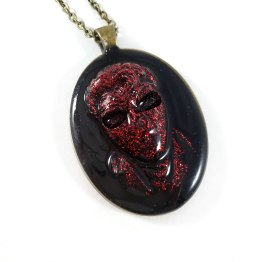 Long Live the King Cameo Necklace in Red & Black by Wilde Designs