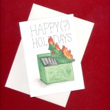 Dumpster Fire Holiday 2020 Card by Wilde Designs
